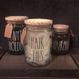 Rae Dunn HAIR TIES Jar